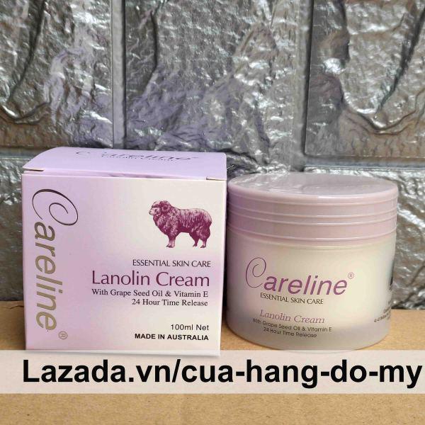 Kem Dưỡng Ẩm Cừu Tím Careline Lanolin Cream 100ml của úc - Kem cừu Úc Esential Skin Care