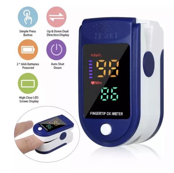Máy đo độ bão hòa Oxy trong máu SpO2 bằng đầu ngón tay, đo nhịp tim, tiện lợi , trong vòng 5s có kết quả