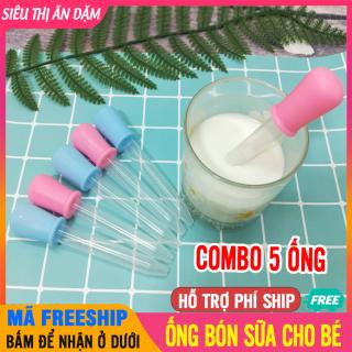 [GIÁ TỐT] 5 Ống Bón Sữa Tiệt Trùng Cho Bé 5ml Sạch Sẽ, Tiện Lợi, Silicon An Toàn - Ống Bón Sữa Cho Bé, Ống Hút Sữa Cho Bé, Ống Bơm Sữa, Ống Bón Sữa 5ml, Ong Bon Sua, Ong Hut Sua - 5 Ống Hút Bón Sữa Silicon thumbnail