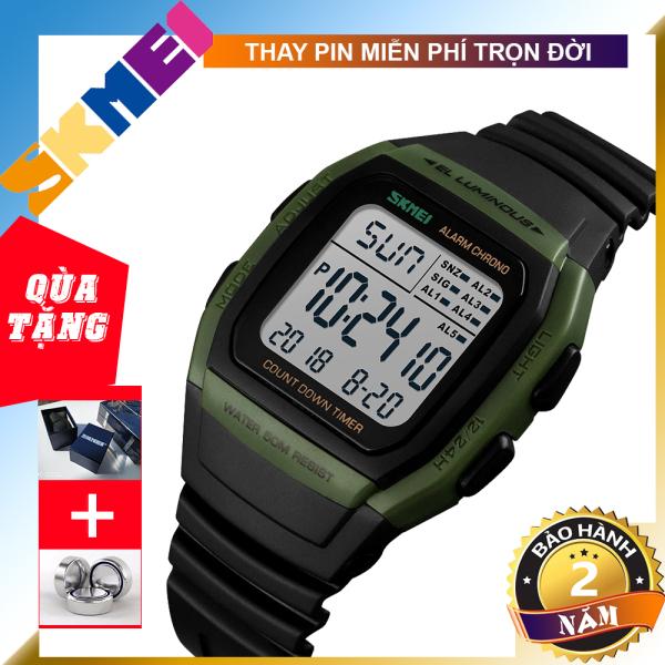 Nơi bán [BẢO HÀNH 1 NĂM] [TẶNG HỘP VÀ PIN] Đồng hồ nam dây da SKMEI 1278 TREND 2020 đồng hồ điện tử độc đáo