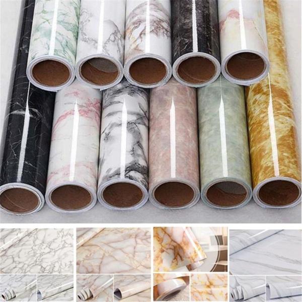 60x100cm 3D hiệu ứng đá cẩm thạch dán tường chống thấm PVC tự dính Hình nền trang trí nhà giấy dán tường phòng ngủ trang trí phòng ngủ