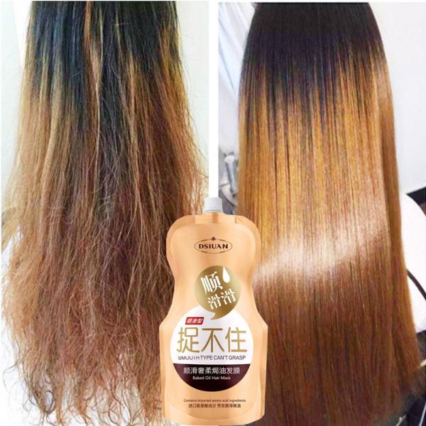 Dầu xả Collagen   Dầu Xả Dưỡng Tóc Siêu Mượt   【500g】   phục hồi tóc hư tổn cao cấp