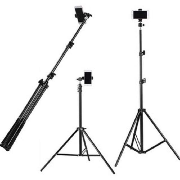 Giá đỡ tripod cao cấp 3 chân kéo cao 2m hỗ trợ livestream, chụp hình, quay video, tặng kèm đầu kẹp điện thoại