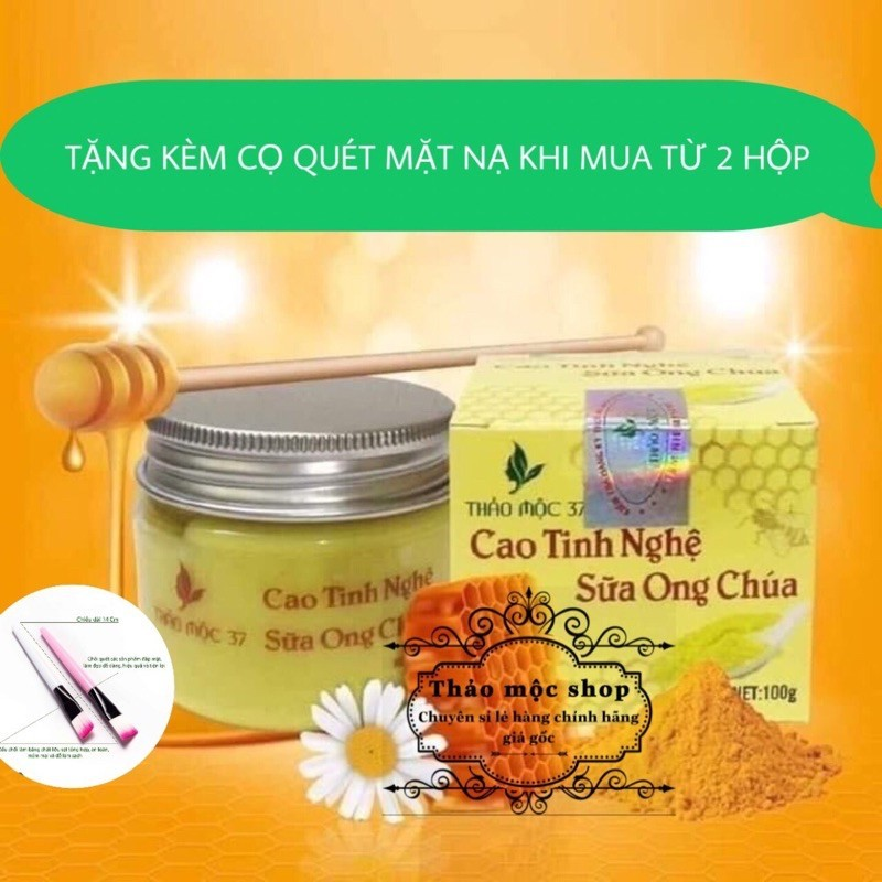 Cao tinh nghệ sữa ong chúa 37 (HandMade) nhập khẩu