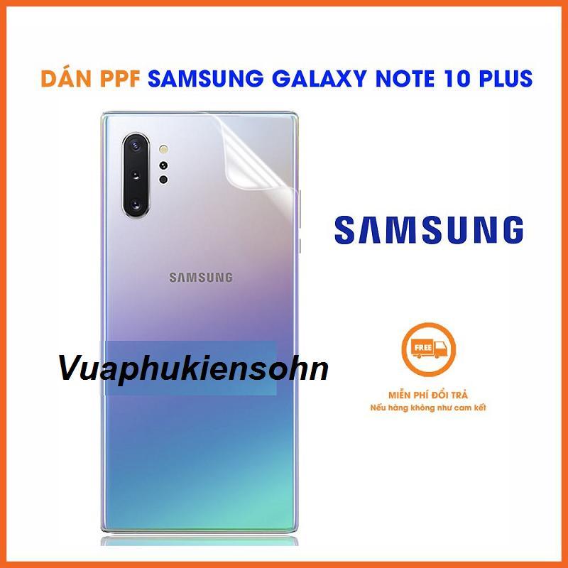 Siêu Tiết Kiệm Khi Mua PPF Chống Vân Tay Mặt Lưng Samsung Galaxy Note 10 Plus