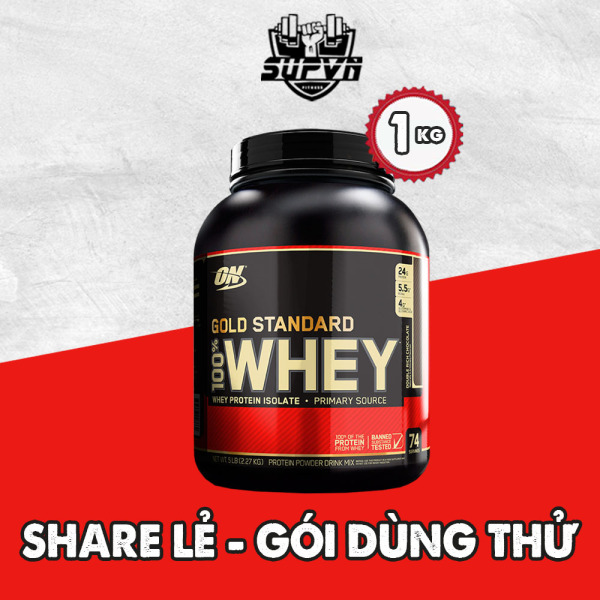 Whey On gold Stardard Optimum Nutrition 1kg - Sữa protein tăng cơ giảm mỡ - Whey protein share lẻ 1kg cao cấp