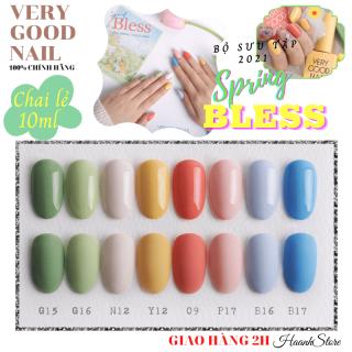 Very good Nail Sơn gel Hàn quốc chai lẻ Freeship Tách lẻ BST Spring 2021 Bless thumbnail