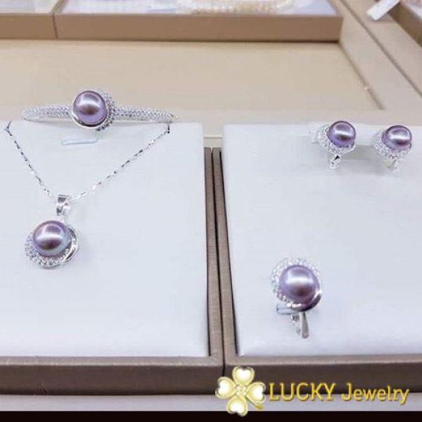 Bộ trang sức Ngọc Trai Lucky Jewelry LJ511 Vàng 10K
