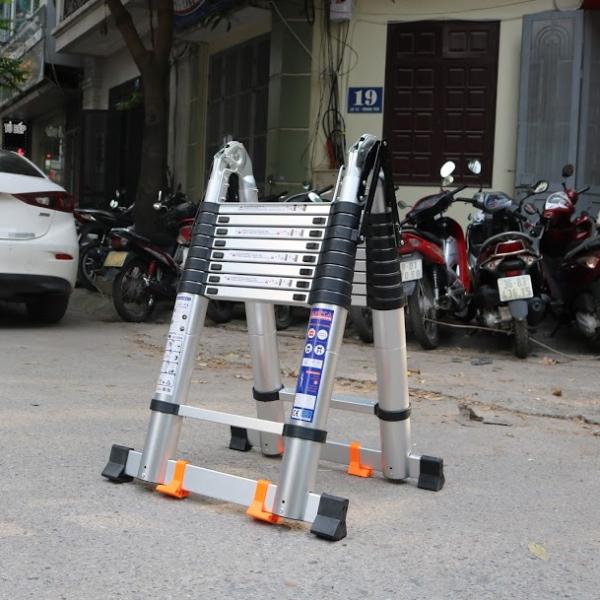 Thang Nhôm Xếp Đôi 8x2 Bậc  Ameca AMI-P500N 2.5m chữ A, tải trọng 150kg