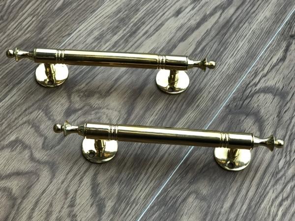 Bộ hai tay nắm cửa gỗ, tủ gỗ bằng chất liệu đồng đúc đặc N01  - Khóa Hoàng Yến