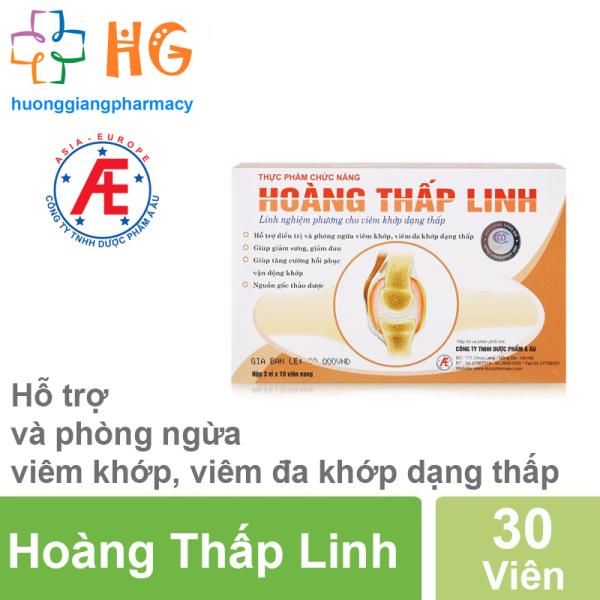 Hoàng Thấp Linh - Hỗ trợ và phòng ngừa viêm khớp, viên đa khớp dạng thấp (Hộp 30 viên)