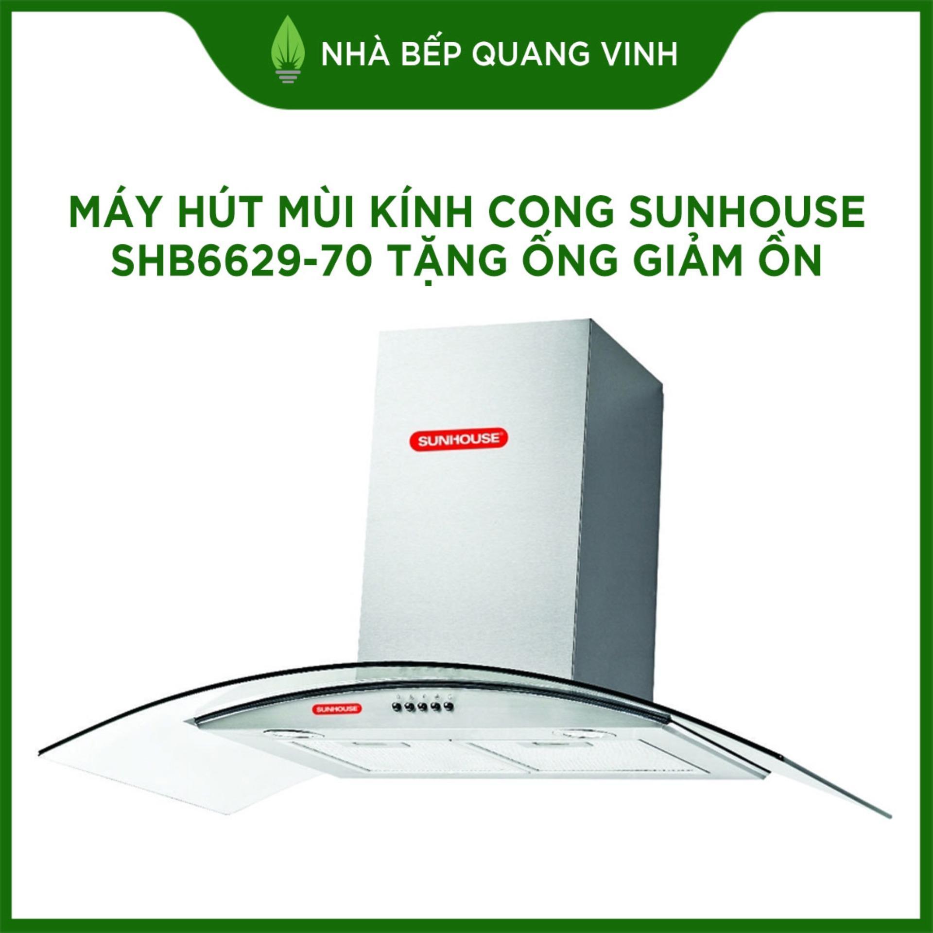Giảm Giá Quá Đã Phải Mua Ngay Máy Hút Mùi Kính Cong Sunhouse SHB6629-70 Tặng ống Giảm ồn