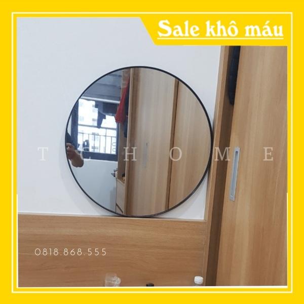 Gương treo viền kim loại sơn tích điện cao cấp D50 D60 giá rẻ
