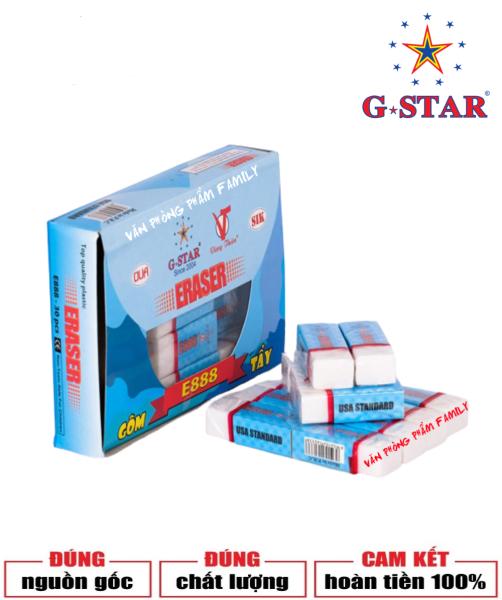 Mua Bộ 30 cục gôm màu trắng E-888 G-STAR được làm bằng cao su tự nhiên, dẻo dai, có độ đàn hồi tốt