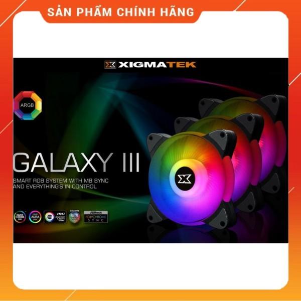 Bảng giá Bộ Fan Tản Nhiệt XIGMATEK GALAXY III ESSENTIAL - BX120 ARGB (EN45433): HUB FAN (PACK x3, CONTROLLER, POWER HUB) Phong Vũ