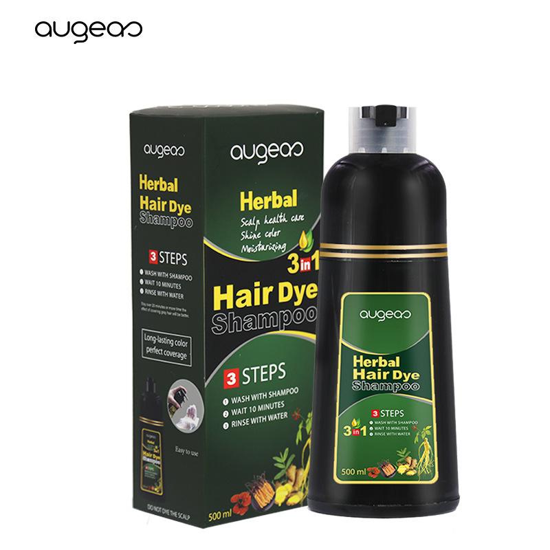 Dầu gội trị tóc bạc tóc bạc Augeas chiết xuất từ thảo dược Trung Quốc nhân sâm trị tóc bạc trong vòng 5 phút không mùi thơm khó chịu. Xem kết quả lần đầu tiên 500ml ban đầu nhập khẩu