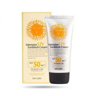 Kem chống nắng 3w Clinic Bảo vệ hoàn hảo Intensive UV Sunblock Cream SPF 50 Pa+++ thumbnail