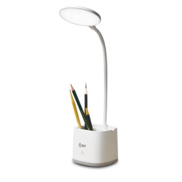 Đèn học để bàn đa năng chống cận thị (Đèn có tích điện, sạc qua usb, có giá điện thoại, giá bút, có 3 chế độ sáng), đèn chính cao cấp, bảo hành chính hãng Comet