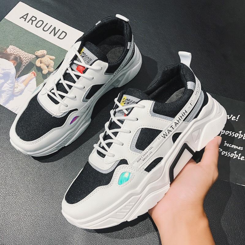 (Video Thật) Giày thể thao nam sneaker tăng 5cm chiều cao cực kì ngầu Sudoo đế tổng hợp êm chân kiểu dáng sang trọng lịch sự