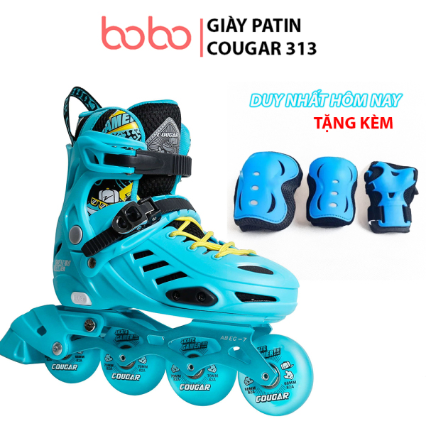 Mua Giày patin trẻ em, Giày trượt Patin Cougar 313, 8 bánh đèn led siêu sáng, giày chỉnh được size, bánh xe cao su cao cấp, hot trend 2021, giày patin cougar 313, cougar 313, giày ba tin, giày patin trẻ em, dày trượt patin,giày patin cougar