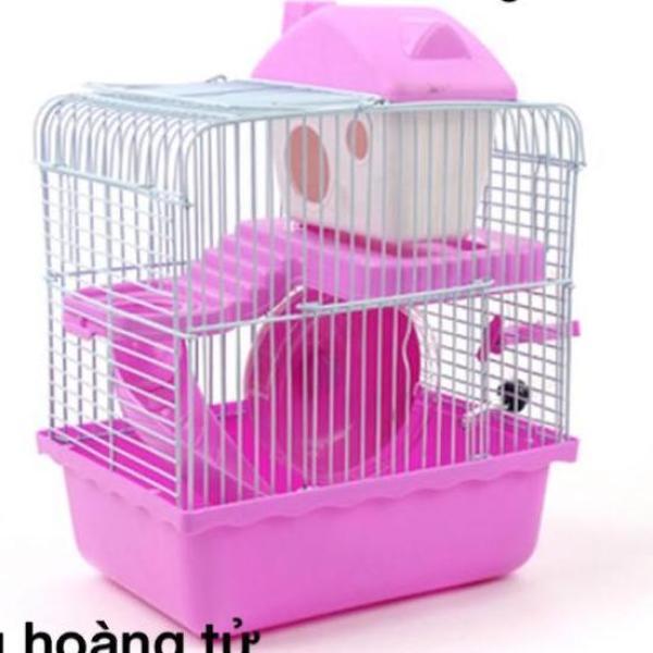 Lồng hamster 1 tầng hoàng tử bé chất liệu nhựa, nan sắt sơn tĩnh điện cao cấp kích thước 23x17x30cm