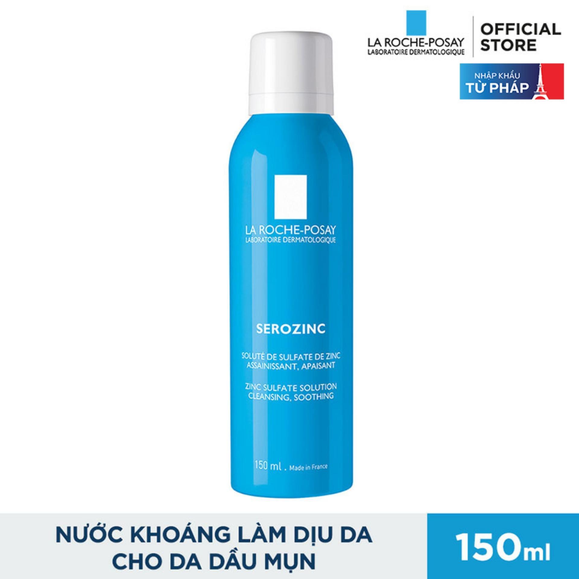 Xịt khoáng giúp làm sạch và làm dịu da La Roche Posay Serozinc 150ML tốt nhất