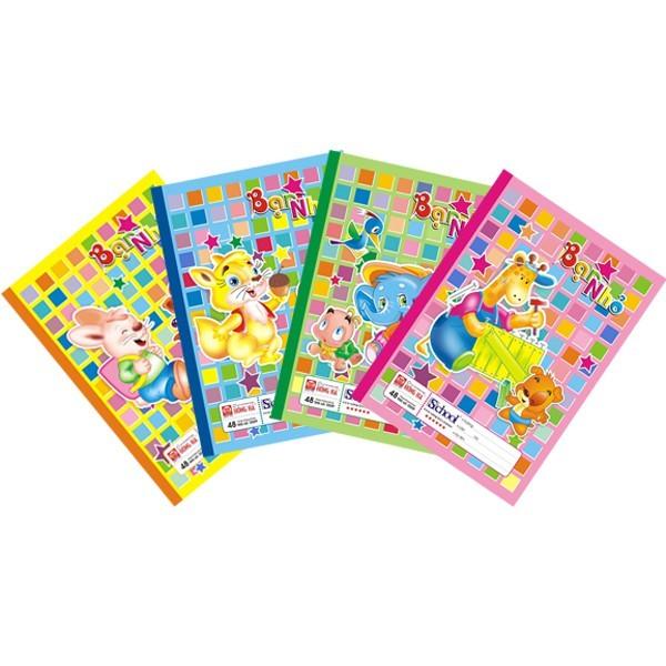 5 Quyển Vở Ô Ly Bạn Nhỏ 48 Trang Hồng Hà Và Klong