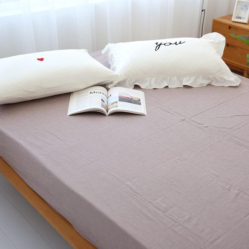 Trong Tai Tốt Phong Cách Nhật Bản Giản Lược Gió Bông Giặt Nước Ga Bọc Đệm Ga Giường Ga Trải Giường 100% Cotton Mềm Mại Bông Tân Cương Trên Giường Cung Cấp