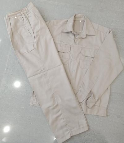 Bộ quần áo bảo hộ Lao động Màu ghi - từ số 5 đến số 8; quần áo bảo hộ lao động;đủ size