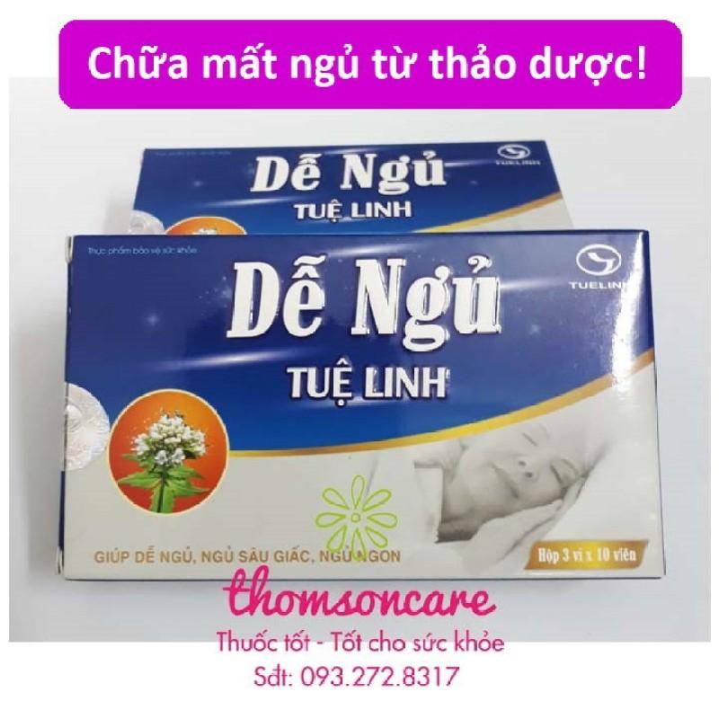 Dễ ngủ Tuệ Linh - hỗ trợ giúp ngủ ngon từ thảo dược sản phẩm có nguồn gốc xuất xứ rõ ràng dễ dàng sử dụng cam kết sản phẩm y như hình