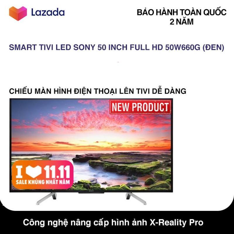 Bảng giá Smart Tivi Sony 50 inch Full HD - Model 50W660G (Đen) Hệ điều hành Lunix, Công nghệ hình ảnh X-Reality PRO, Điều khiển bằng điện thoại - Bảo Hành 2 Năm