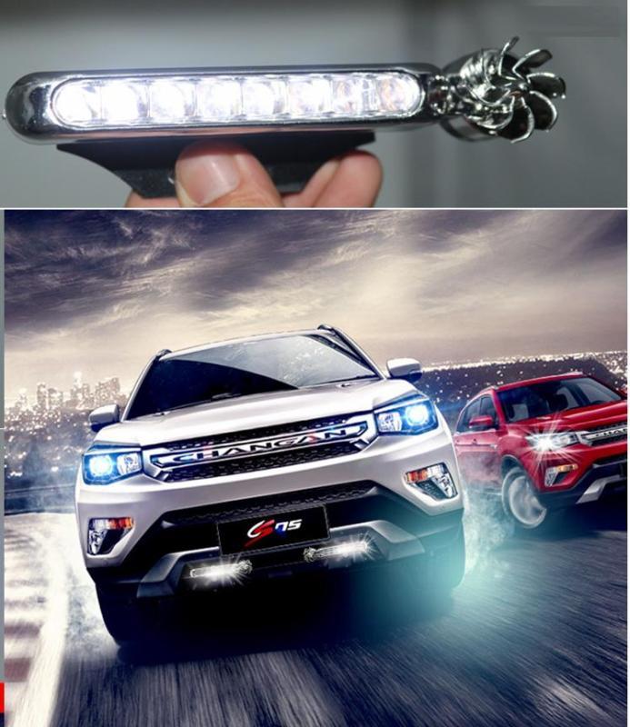 Bộ 2 đèn led năng lượng gió trang trí xe hơi ô tô cực chất