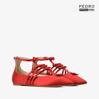 PEDRO - Giày đế bệt nữ mũi nhọn phối quai mảnh Ankle Strap Ribbon PW1-66300031-08 thumbnail