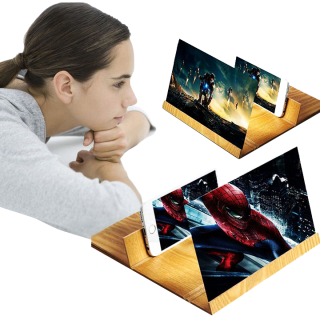 Kính 3D phóng to màn hình điện thoại 12 inch (Vân gỗ) thumbnail