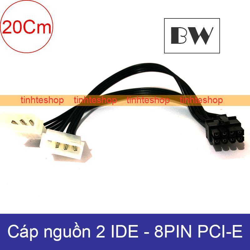 Bảng giá Cáp nguồn 2 IDE/ATA 4pin PSU ra 8pin PCI-E Video card 20Cm Brawis BR-CBPW218 Phong Vũ