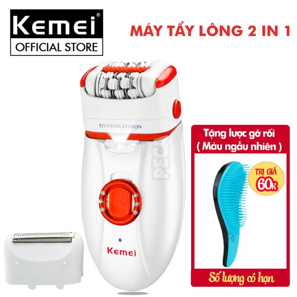 Máy tẩy lông đa năng 2 in 1 Kemei KM-2668 có thể nhổ và cạo lông toàn thân, dùng pin sạc chuyên nghiệp( Màu ngẫu nhiên) nhập khẩu