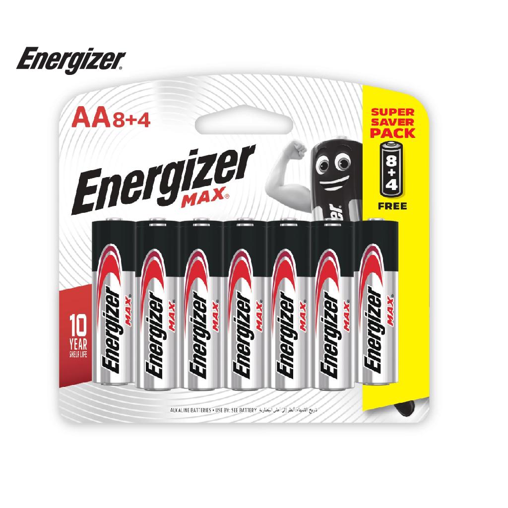 Pin Energizer Max AA E91 BP8+4 - 100628299