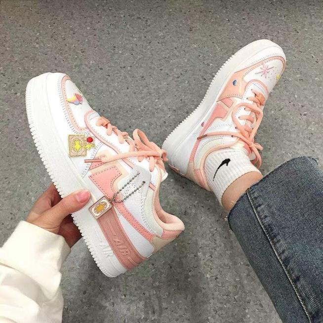 giày thể thao sneaker nữ  NI.KE AIR hoa cúc tag khóa 2 màu siêu hot giá rẻ