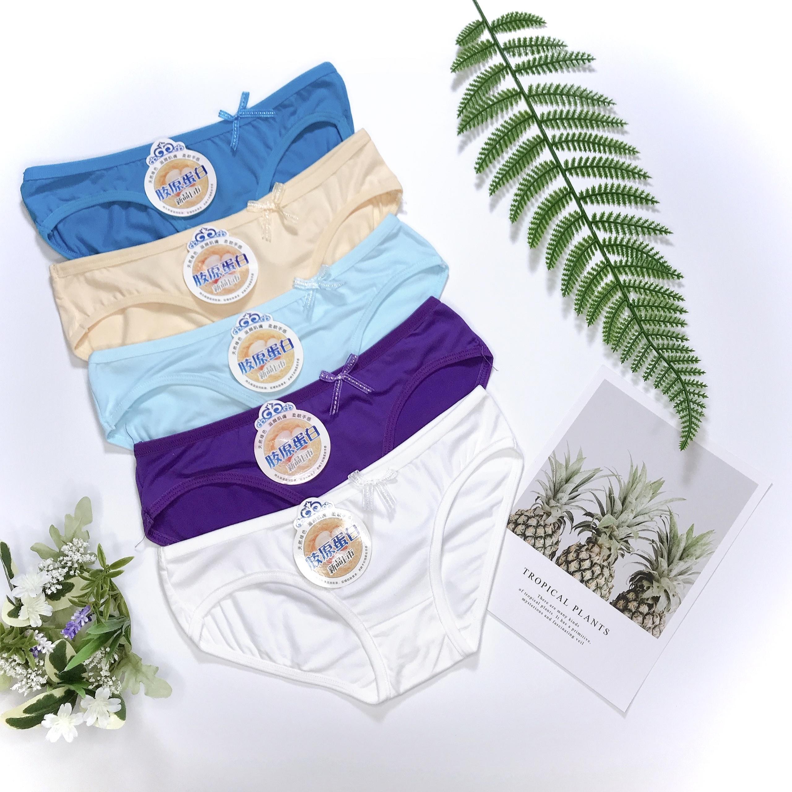 Combo 10 quần lót nữ cotton đủ màu, thấm hút mồ hôi, co dãn thoải mái, 35 - 65kg