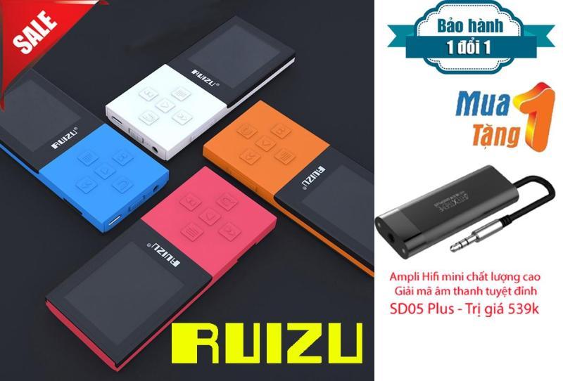 Máy Nghe Nhạc MP3/MP4 Bluetooth Lossless Ruizu X18 8GB + Ampli Mini hỗ trợ giải mã âm thanh chất lượng cao SD05 Plus