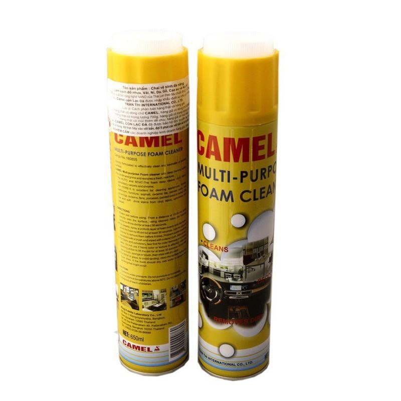 Chai vệ sinh ô tô đa năng Camel 650ml
