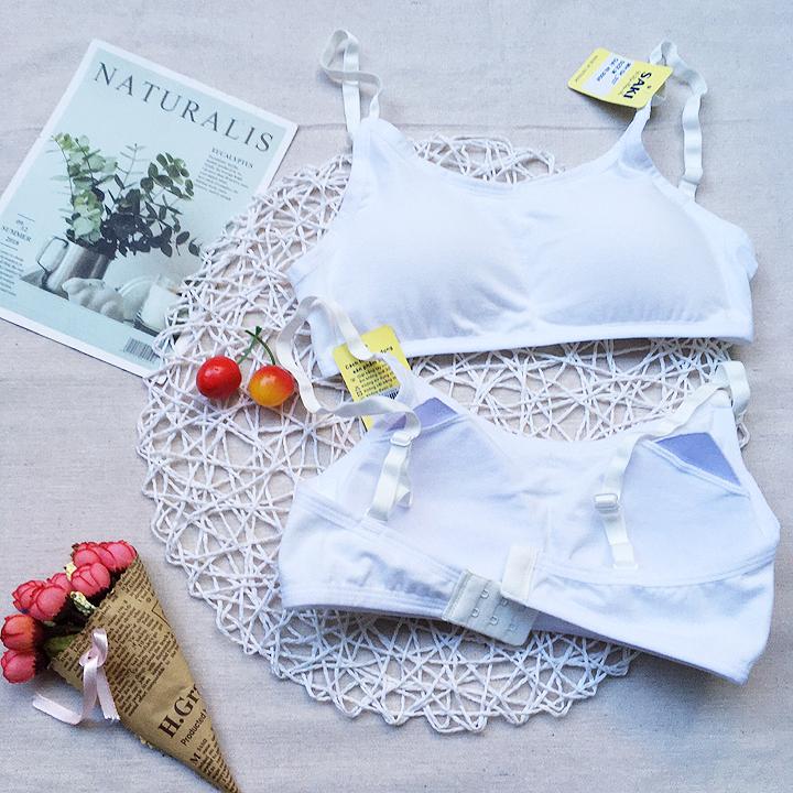Giá bán Áo lót lá thun cotton saki có mút cài 2 - AOLA10