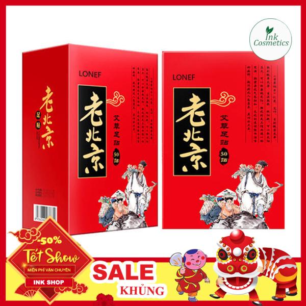 [HỘP 50 Miếng] Miếng Dán Thải Độc Chân Lão Bắc Kinh Tăng Tuần Hoàn Máu, Giảm Đau Xương Khớp nhập khẩu