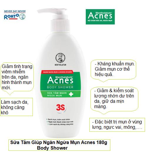 Sữa Tắm Ngăn Ngừa Mụn Acnes 180g Body Shower | Lazada.vn