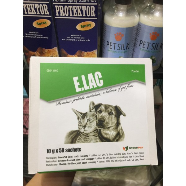 Men tiêu hóa E.Lac 10gr dành cho chó mèo sản phẩm đa dạng chất lượng tốt đảm bảo cung cấp mặt hàng đang dược săn đón trên thị trường