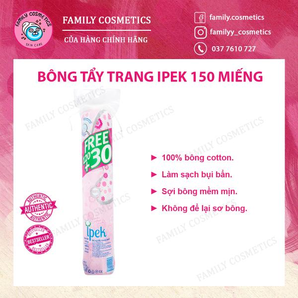 Bông Tẩy Trang Ipek Klasik Cotton Pads Thổ Nhĩ Kỳ - 150 miếng