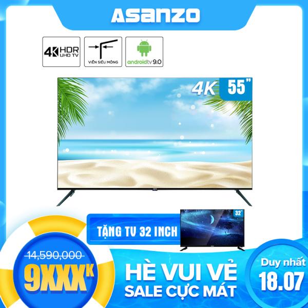 Bảng giá Smart tivi Asanzo 55SL800 iSLIM 4K 55 inch  [New 2020], Hệ điều hành Android 9.0, Công nghệ HDR, Độ Phân Giải 4K, Viền Mỏng - Hàng chính hãng bảo hành 2 năm Điện máy Pico