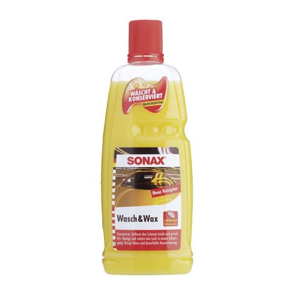 Nước rửa xe sángbóng sơn như mới 2 trong 1 Sonax Wash & Wax 1L - Nhập 100% Đức