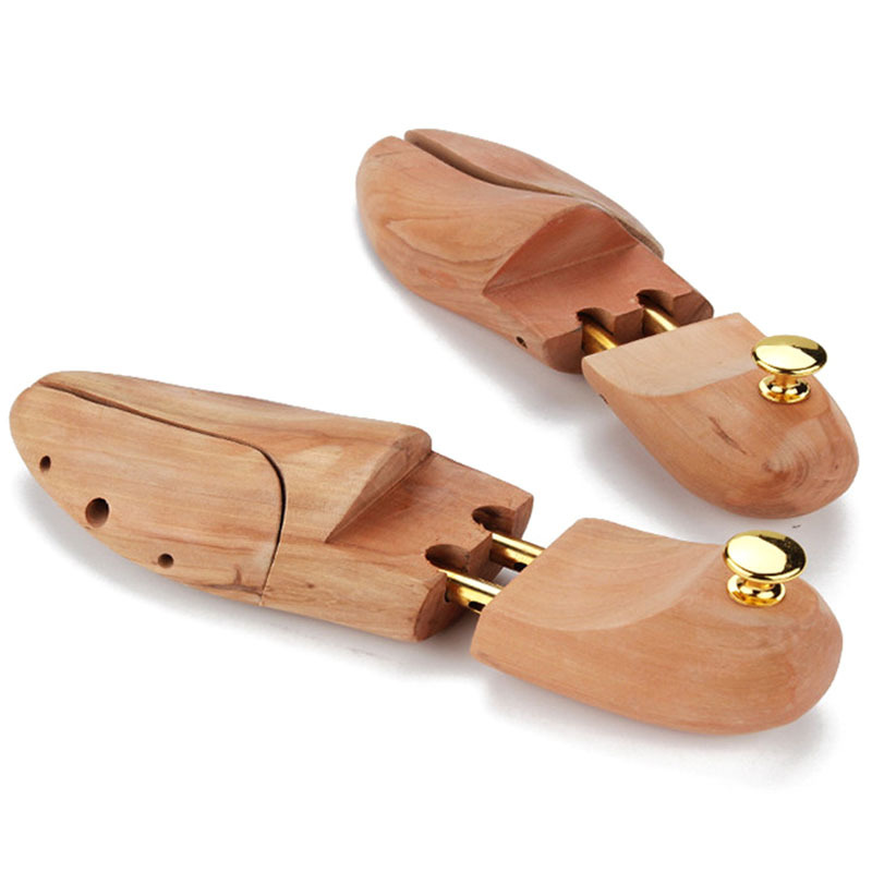 Mens and Womens Shoe Trees Twin Tube Adjustable New Zealand Pine Wood Shoe Tree