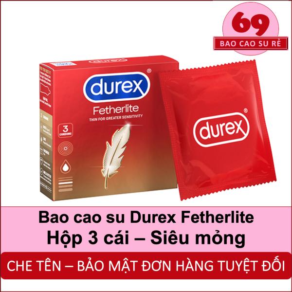 Bao Cao Su Siêu Mỏng Durex Fetherlite Hộp 3 Bao